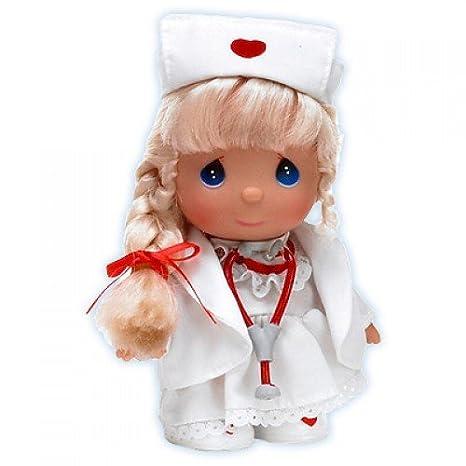 amazon com precious moments mini moments nurse blonde doll 5