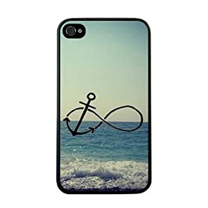 @ALL Infinity Anchor Sea Retro Cover Case For Iphone 6 Plus (5.5inch)(Black) with Best Silicon Rubber by runtopwell