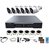 Revo America AeroHD 8Ch. 4MP DVR, 1TB HDD Video Security System, 6 x 1080p IR Bullet Cameras Indoor/Outdoor - Remote Access via Smart Phone, Tablet, PC & MAC