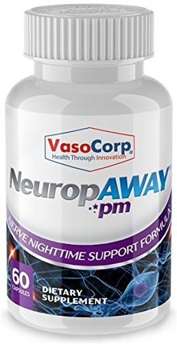 NeuropAWAY Nerve Health Support Formula - Burning Feet, Tingling, Numbness, Pain in Legs (60 Capsules Night)