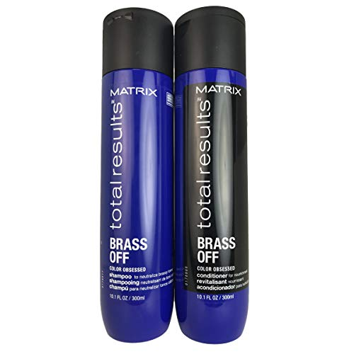 (MATRlX Total Results Brass Off Color Obsessed Shampoo & Conditioner Full Size, Set of 2)