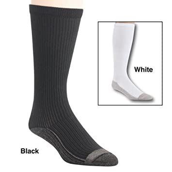 80b8e9311c Image Unavailable. Image not available for. Color: Dream Products Silver  Lined Therapeutic Compression Socks ...
