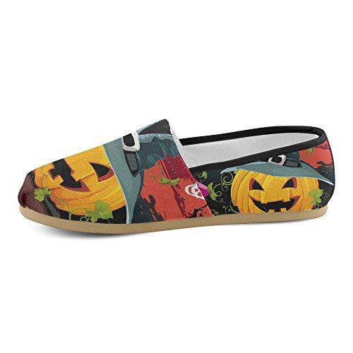 M-story Fashion Sneakers Flats Happy Halloween Pumpkin Womens Classic Slip-on Scarpe Di Tela Mocassini Multi14