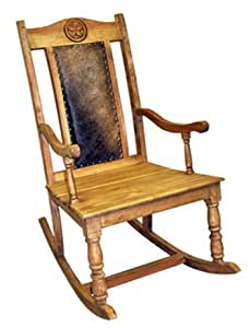 Amazon.com: Light Cowhide Rocker - Rocking Chair: Kitchen & Dining