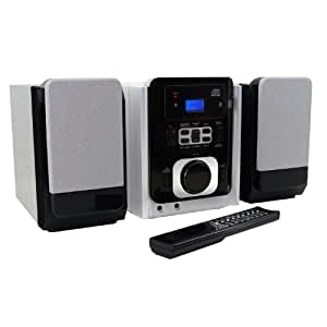 Soundmaster MCD 800 - Microcadena (MP3 WMA, Radio, CD/USB), negro y gris