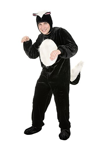 Charades Unisex-Adult's Micro-Fiber Skunk, as as Shown, Large -