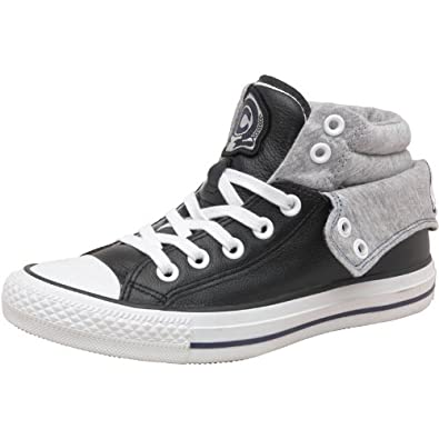 e48c0a2114a5 Converse CT All Star Padded Collar 2 Mid Leather Black White Grey - 7.5