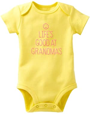 Baby Girls LIFE'S GOOD AT GRANDMA'S Dress Up Bodysuit Outfit