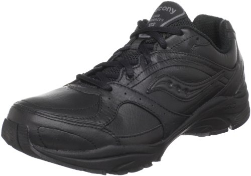 Saucony Women's ProGrid Integrity ST2  Walking Shoe,Black/Grey,8.5 D US (10110-2)