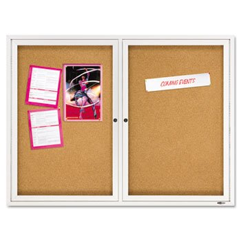 ndoor Cork Bulletin Board with Hinged Doors BOARD,BULLETIN,2DR,48X36 120585 (Pack of 2) ()