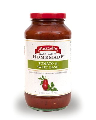 Mezzetta Homemade Tomato and Sweet Basil, 25 Ounce (Pack of 3) Homemade Tomato Sauce