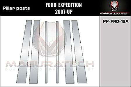 B Pillars AUTOCARIMAGE Glossy Piano Black Pillar Posts Covers for Ford Expedition 07 08 09 10 11 12 13 14 15 16 17-6 Pieces
