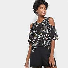 Blusa Drezzup Open Shoulder Floral Feminina - Floral - Ep 07f4b41d4f73b