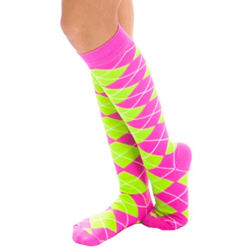 Pink And Green Argyle - 9