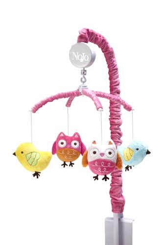 owl crib mobile for girl - 1