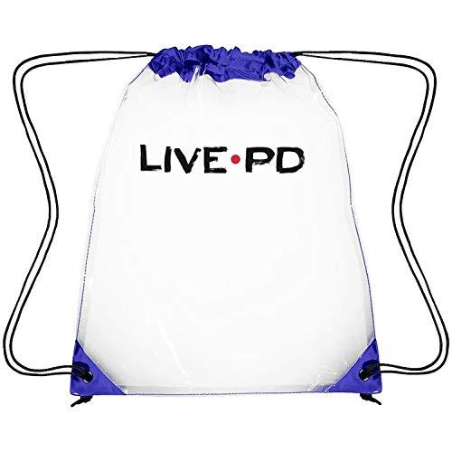 uter ewjrt Waterproof Live-PD-Police-Cops-Show- Clear Drawstring Backpack Stadium Drawstring Bag