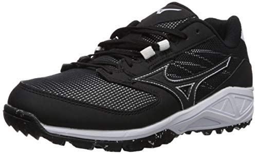 (Mizuno Women's Dominant All Surface Turf Shoe Softball, Black/White, 11.5 B US)
