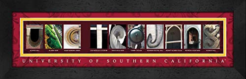 (Prints Charming Letter Art Framed Print, U of Southern California-Usc Trojans, Bold Color Border)