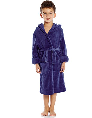 Blue Hooded Robe (Leveret Kids Fleece Sleep Robe Royal Blue Size 12 Years)