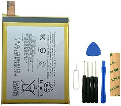 for Sony Xperia Z3 Plus Z4 E6553 Replacement Battery LIS1579ERPC Free Adhesive Tool