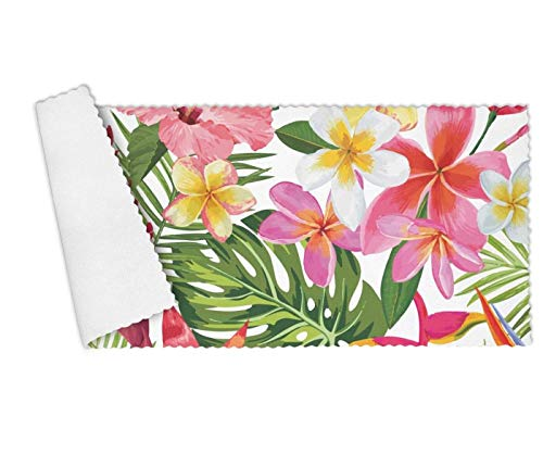 - Floowyerion Highly Absorbent Bar Towels & Napkins Towels Tropical Flowers and Palm Leaves Kitchen Dish Towel Set of 3,12 x 27 in