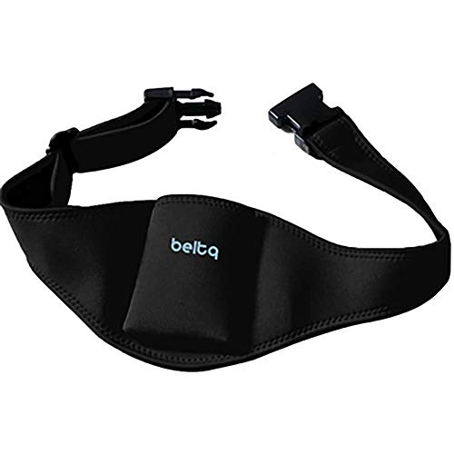 Microphone Belt/Mic Belt by Beltq -Black Carrier for Microphone Transmitter Up to 34-36 inch Waists Mic Pack for Fitness Instructor or Theater