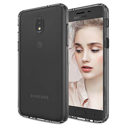 Galaxy J3 Star 2018 Case Clear,HENSUN J3 Achieve/J3 Orbit/J3 Express Prime 3/J3 Prime 2/J3 Emerge 2018/Amp Prime 3/Eclipse 2/Sol 3/Aura Cases,Girls Boys Men Phone Cover Fit Samsung J3 V 3rd Gen Clear