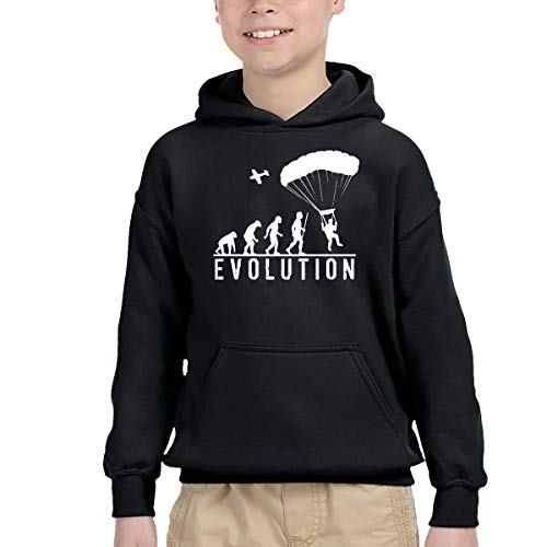 YTH&123 Kids'/Toddlers' Pullover Hoodie Fleece Evolution Skydiving Outer Jacket