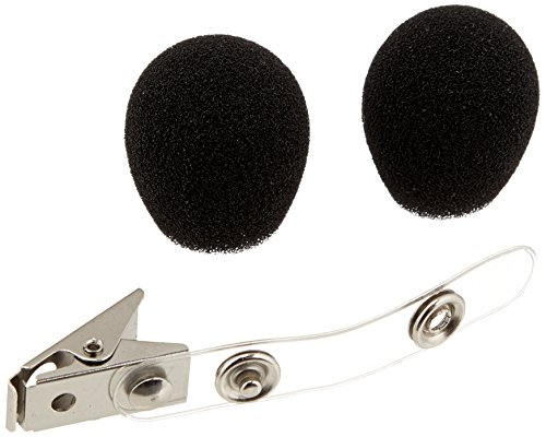 Shure RK318WS Black Foam Windscreens and Clothing Clip for All WH10, WH20 Headworn Microphones, Set of 2