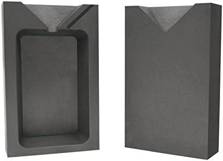 10 Troy Ounce Silver Rectangular Two Part Split Graphite Ingot Mold Precious Metal Casting Melting
