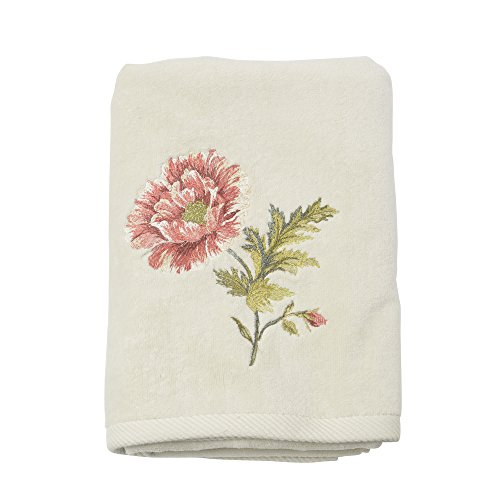 Croscill Daphne Bath Towel - Croscill Jacquard Shower Curtain