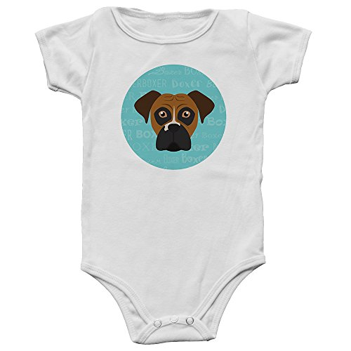 Mystic Sloth Adorable Dog Breed Specific Baby/Toddler Onesie/Bodysuit (Boxer, 6 - Brindle Gifts Boxer Dog