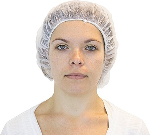 CleanPro 40001W-21 Bouffant Cap/Hair Net, White, 21'' (Case of 1,000)