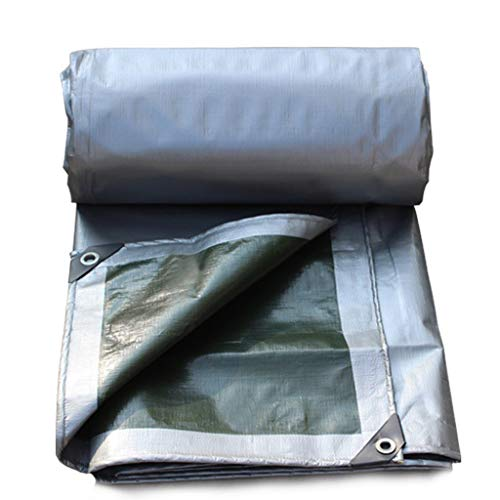- JLDNC Tarp Cover Waterproof, Gary Multi-Purpose Poly Tarpaulin with Grommets,Thickened Flame Retardant/Awning/car Tarp,15x18Ft/5x6m