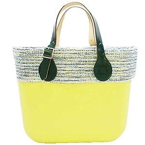 OBAG Borsa o bag mini verde mela sacca interna bordo manico corto piatto verde 30