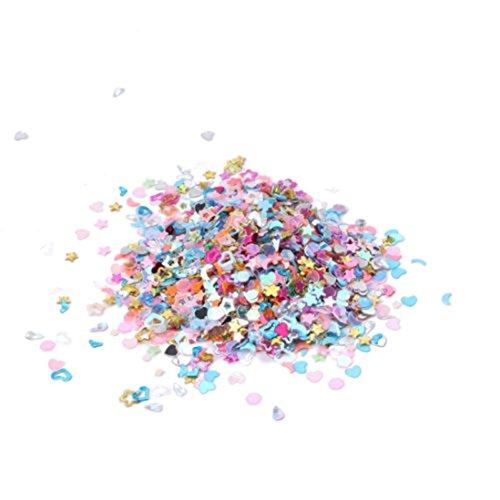 Nail Art,Putars Women Sexy 5000PCS Nail Art DIY Mixed Glitter 3mm Heart Star Flower Sequins Stickers (Glasses Glitter Diy)