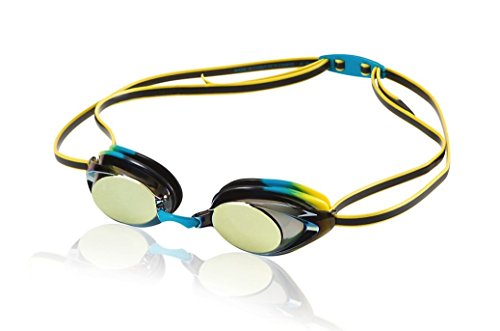 Speedo Jr. Vanquisher 2.0 Mirrored Swim Goggles, Vivid Teal, One Size
