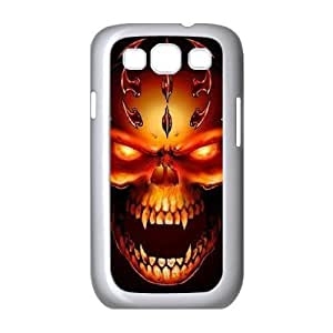Samsung Galaxy S3 Case,Skull & Flame Hard Shell Case for Samsung Galaxy S3 White Yearinspace071498
