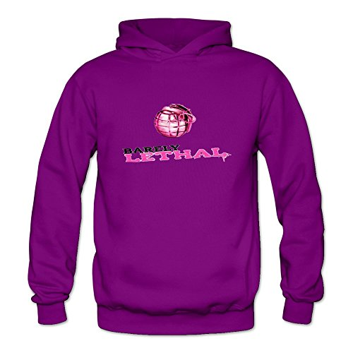 Crystal Women's Barely Lethal Movie Poster Long Sleeve Sweatshirt Purple US Size XL