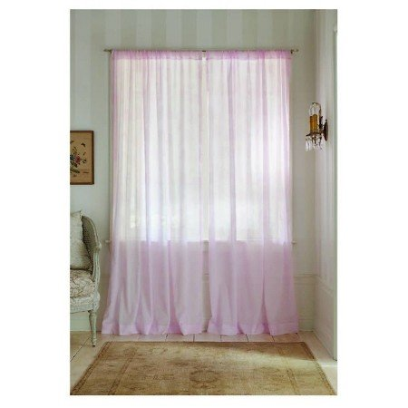 (Simply Shabby Chic Sheer Window Curtain Panel Rose Print, Pink, 54
