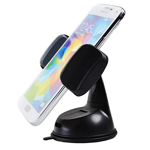 Neotrix Dashboard Cell Phone Car Mount Holder Cradle with Strong Sticky Suction Cup and Anti-slip Silicone Clamp(Black/Grey)