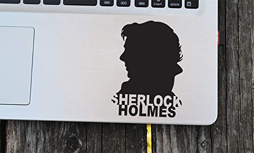 Cool Sherlock Holmes Decals 221B Baker Street UK Sticker Modern Portrait Vinyl Removable Laptop Decor Car Art Mural DIY SYY607