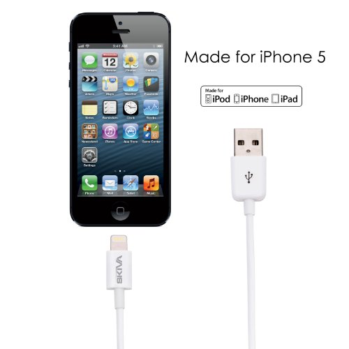 Skiva Apple Certified Lightning to USB cable (3.2 Feet) Made for iPhone 5 5s 5c, iPad (4th generation), iPad mini, iPod touch (5th generation), iPod nano (7th generation) CB101