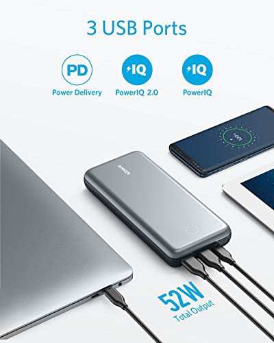 Anker PowerCore+ 19000 PD Hybrid Portable Charger and USB-C Hub with Included USB-C Wall Charger, Power Delivery Power Bank Compatible with Nexus 5X / 6P, iPhone Xs/XR/X / 8, MacBooks, and More by Anker (Image #4)