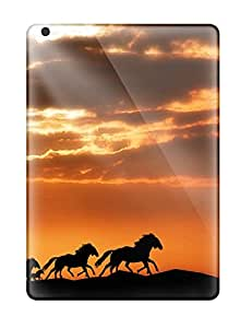 Anti-scratch And Shatterproof Horses Phone Case For Ipad Air/ High Quality Tpu Case