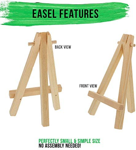 3x Mini Wooden Art Holder Artwork Display Table-Top Easels Drawing Boards  D