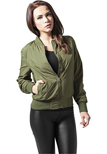 Urban Classics Ladies Light Bomber Jacket - Chaqueta Mujer Olive
