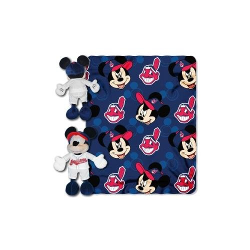 Northwest Fleece Cleveland Indians Blanket (MLB Cleveland Indians Pitch Crazy Co-Branded Disney's Mickey Hugger and Fleece Throw Set)