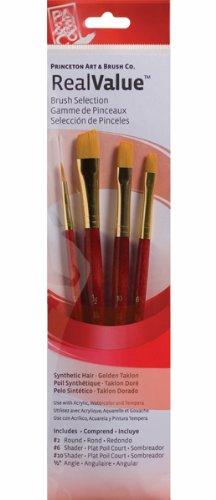 (Princeton Artist Brush, Set 9123 4-Pc Gold Taklon)