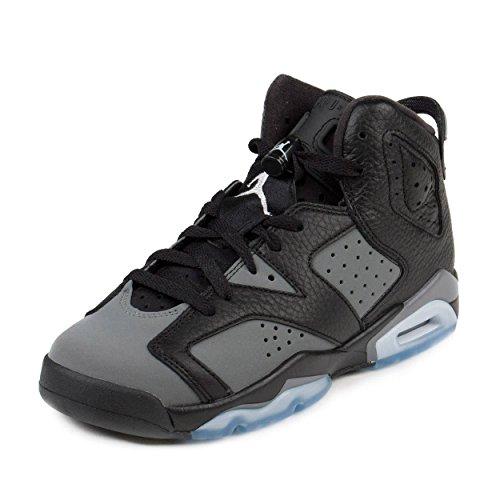 Nike Jordan Kids Air Jordan 6 Retro BG Black/White/Cool Grey Basketball Shoe 6.5 Kids US